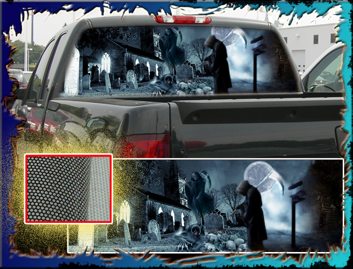 Graphics For Reaper Rear Window Graphics Wwwgraphicsbuzzcom - Back window decals for ford trucks